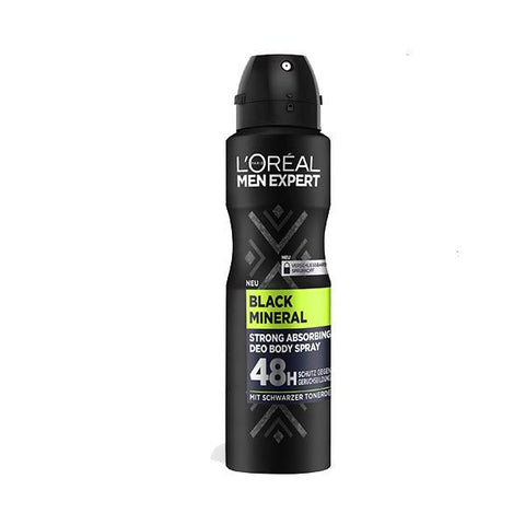 Black Mineral 48H Deodorant Body Spray