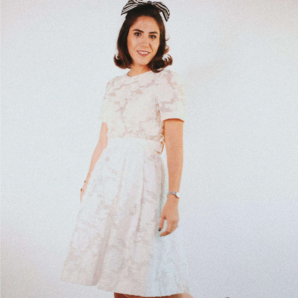 White Lace Skirt and Top Set Set Elsa Osta