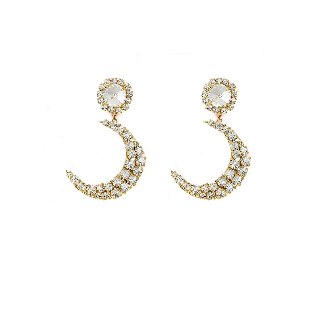 MOON Crystal Long Earrings earrings Elsa Osta