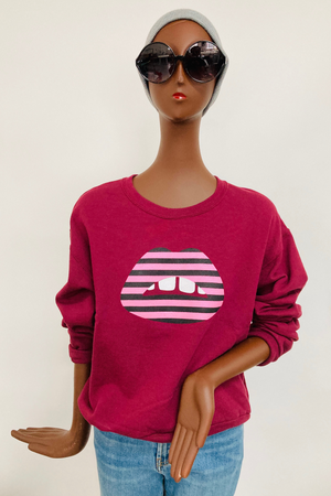 Shorty Printed Sweatshirt- Lips