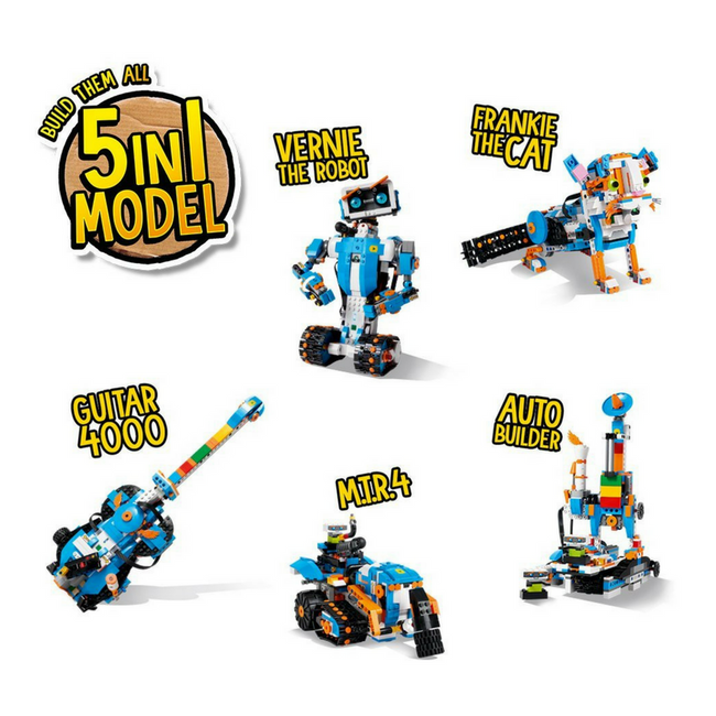 5 models in 1 kit Lego robots boost robot toy robot kit