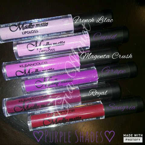 Matte lipstick - Purple shades