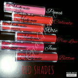 Matte liquid lipgloss - Red shades