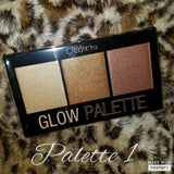 Gia Monet Beauty Creations City Color highlighter trio glow palette bronzer