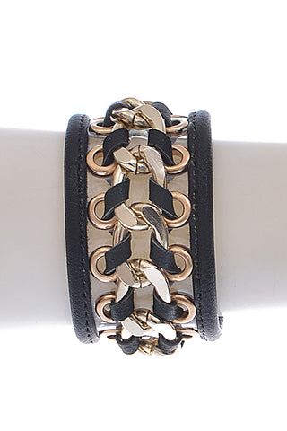 Rocker Chic leatherette cuff