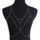 Hey Honey layered triangle bodychain