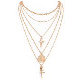 Fashion layered chain necklace (gold or silver color)