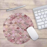 Mermaid style round mouse pad