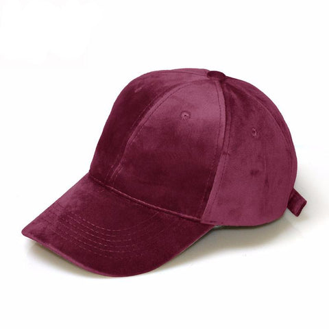 Gia Monet Soft faux suede adjustable baseball cap