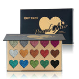 Gia Monet ultra pigmented pressed glitter heart palette