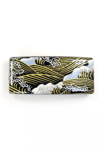 Barrette large WASHI Vague noire