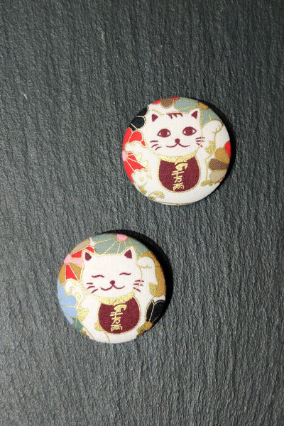 Broche badge en tissu Chat