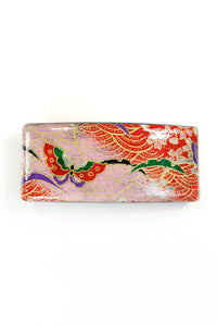 Barrette large WASHI Papillon rose
