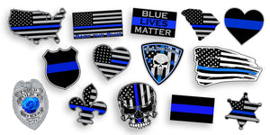 Police Blue Line Stickers