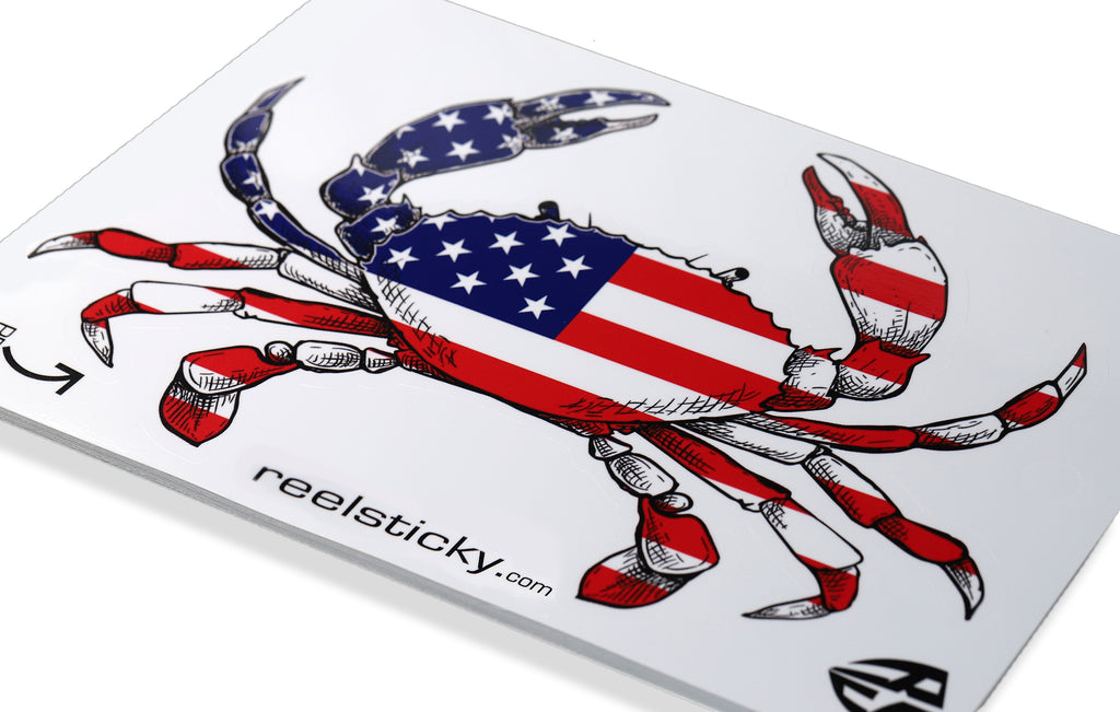 USA American crab sticker