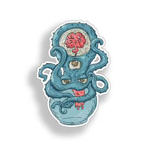3 eyed Octopus Sticker