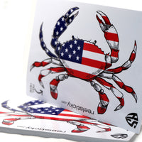 6 inch USA Crab Sticker