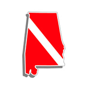 Alabama Diver Down Flag Sticker