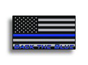 Back the Blue Sticker Decal Sticky Customs