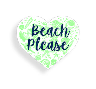 Beach Please - Green and Navy