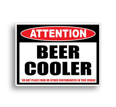 Beer cooler sticker