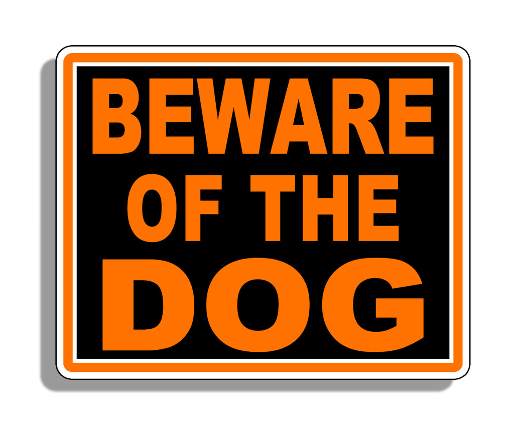 Beware of Dog Warning  Stickers ORANGE