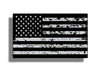 Grunge Black and Gray American Flag Sticker