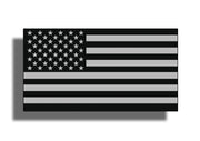Black and Gray USA Flag Sticker Decal American