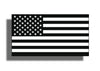 Black and White USA Flag Sticker Decals