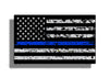 Grunge USA Blue Line Flag Sticker Decal