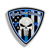 Punisher Badge Blue Line Sticker