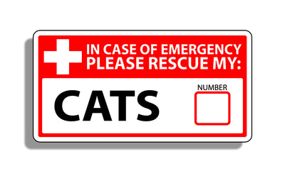 Cat Emergency Pet Rescue Sticker