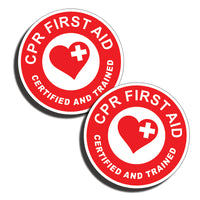 CPR First Aid Trained and Certified Stickers