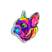 Colorful Frenchie Face Sticker