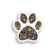 Colorful Dog Paw Print Sticker