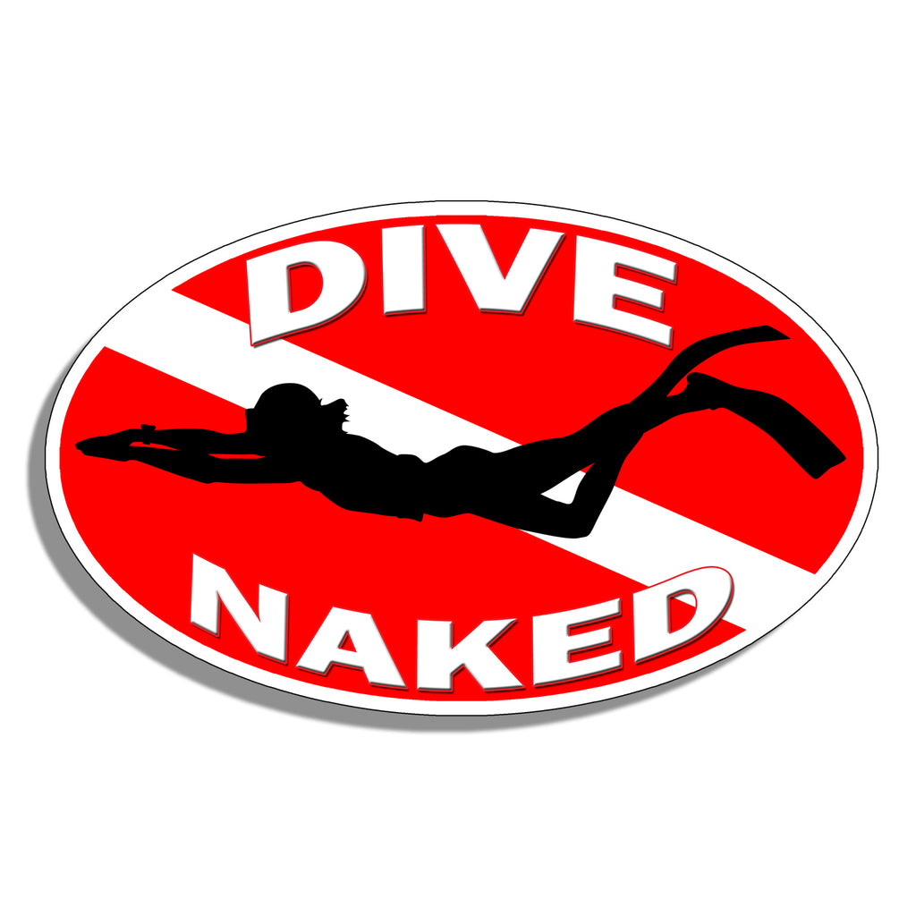 Dive Naked Sticker