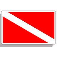 Mini Scuba Diver Down Flag Sticker