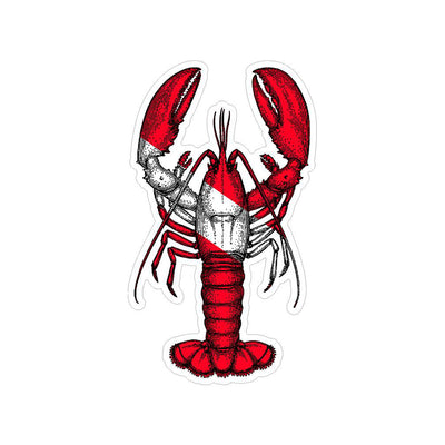 Diver Down Lobster Sticker