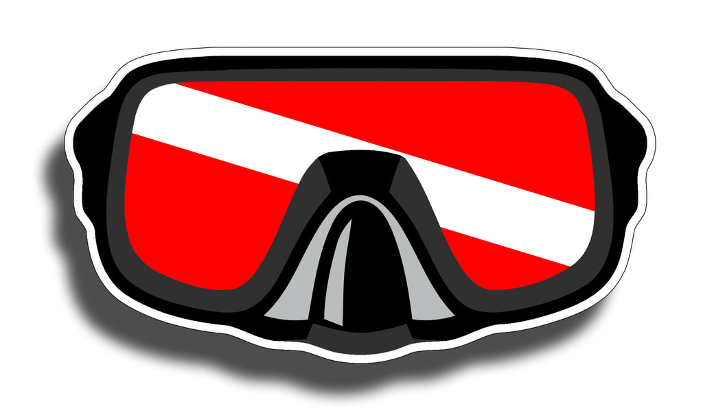 Diver Down Mask Sticker
