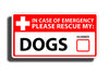 Dog Emergency Pet Rescue Sticker