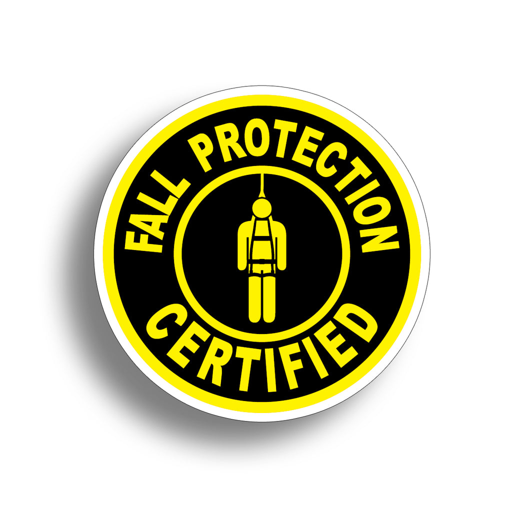 Fall Protection Hard Hat Sticker