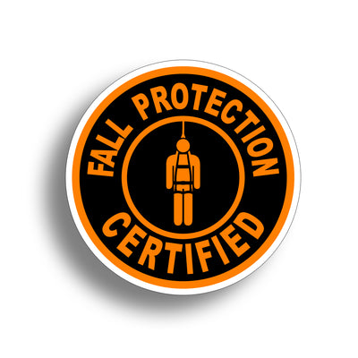 Fall Protection Sticker - Orange
