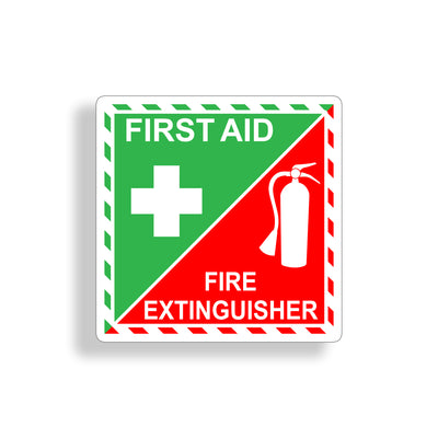 First Aid Fire Extinguisher Sticker