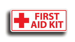 First Aid Kit Sticker Decal White Safety