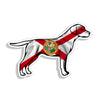 Florida FL State Flag Labrador Dog Sticker