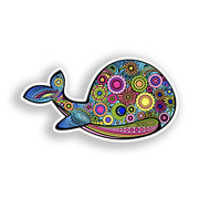 Whale Sticker Flower Design