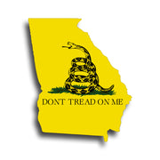 Dont Tread On Me Georgia Sticker Decal GA