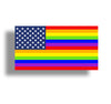 LGBT USA Flag Sticker