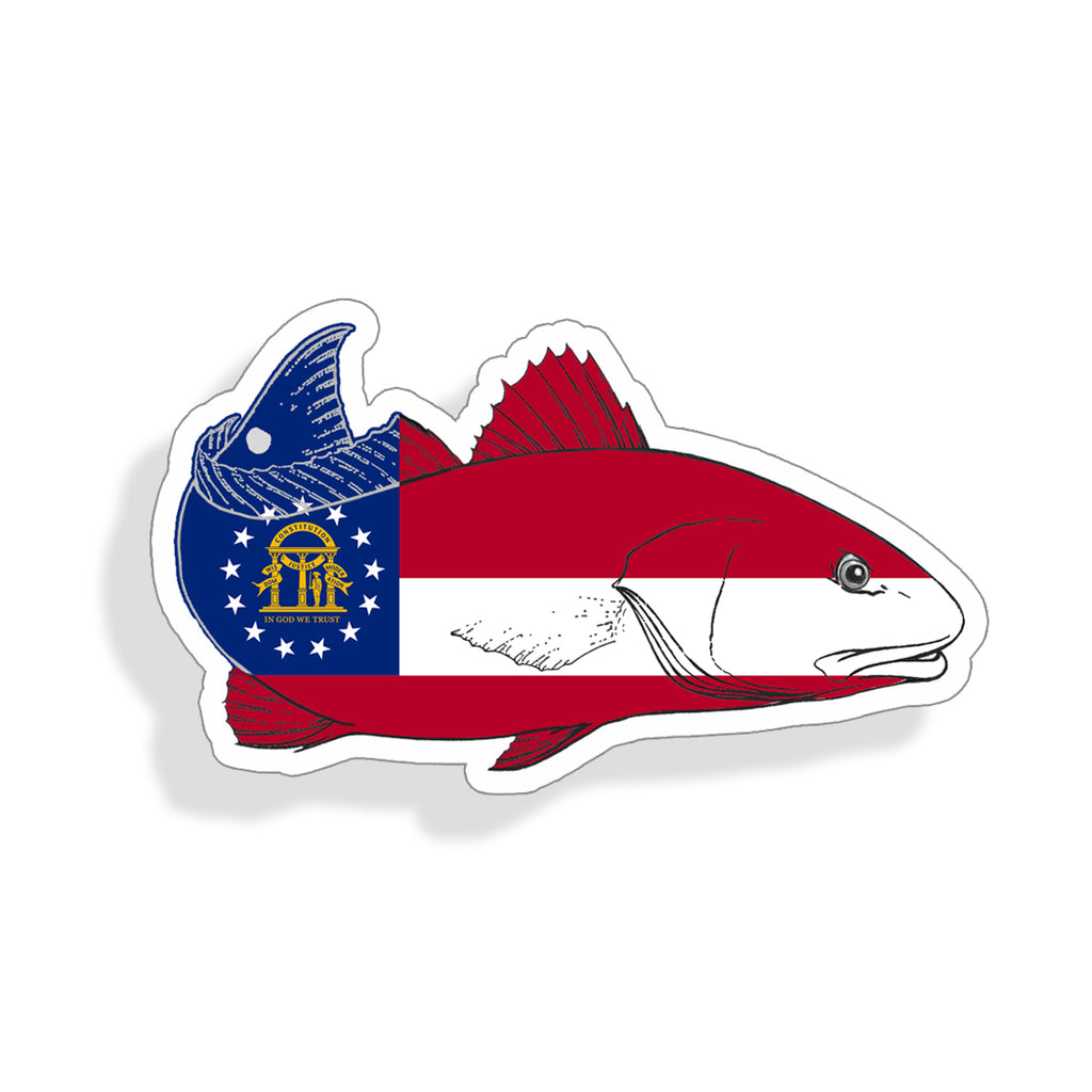 Georgia Redfish Red Fish Sticker