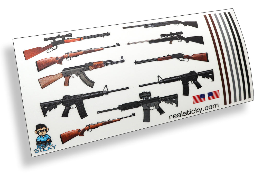 Scale Gun Sticker Pack